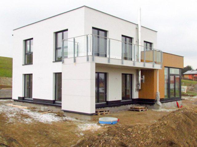 Hydroizolace z TPO folií Schedetal na luxusních dřevostavbách Griffner