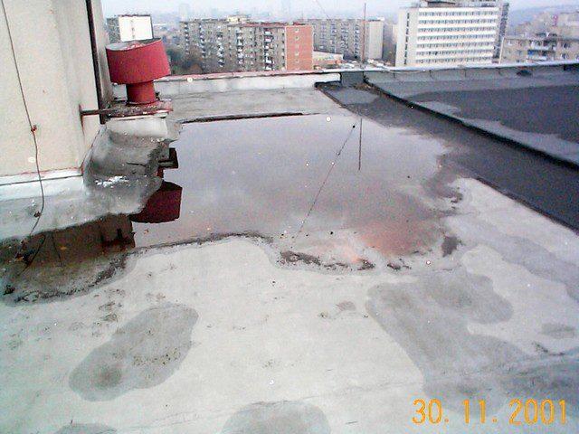 Je dobré nemít na střeše kaluže